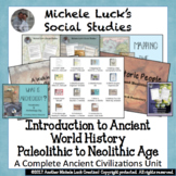 Introduction to Ancient World History COMPLETE UNIT Plans w/Activities