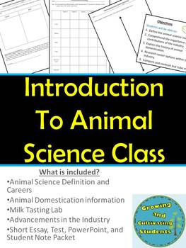 Introduction to Animal Science Unit