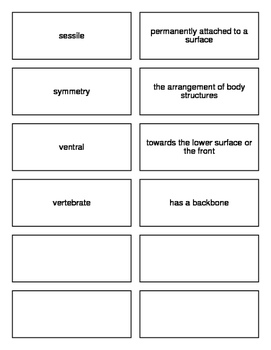Introduction to Animals Flash Cards for Biology II