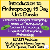 Introduction to Anthropology: 15 Day NO PREP Unit Bundle