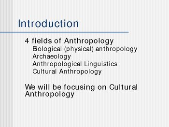 Introduction to Anthropology and Kinship