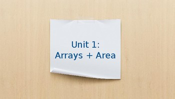 Introduction to Area and Arrays