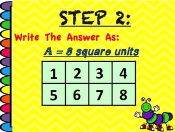 Area by Counting Square Units {Interactive Power Point} **Revised May 2016***
