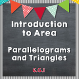 Introduction to Area of Parallelograms and Triangles - 6.G.1