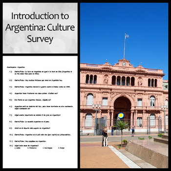 Introduction to Argentina: Culture Survey for Spanish Class