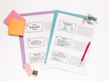 Introduction to Argumentative Essay Writing Lesson, PowerPoint, CCSS