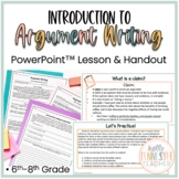 Argumentative Essay Writing Introduction Lesson, PowerPoint (6th-12th Grade)