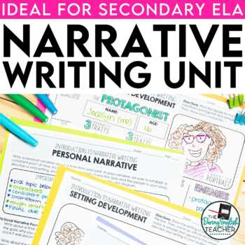Narrative Writing Teaching Unit for secondary ELA (PowerPoint, essay & more)