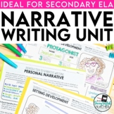 Narrative Writing Teaching Unit for secondary ELA (PowerPo