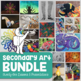 *High School Art & Middle School Art: 21 Visual Art Lesson Bundle