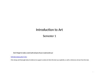 Introduction to Art Semester 1 Complete Curriculum Guide