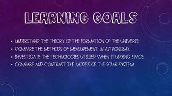 Introduction to Astronomy Presentation & Notes