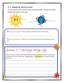 Introduction to Astronomy - Reading & Review Activities