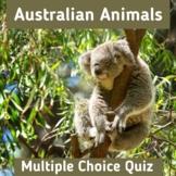 Australian Animals | Multiple Choice Quiz | Interactive Bo