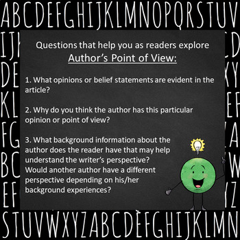 Introduction to Author's Purpose/Perspective