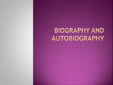 Introduction to Autobiography and Biography PowerPoint