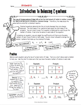 Introduction to Balancing C... by Adventures in Science | Teachers ...