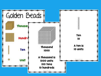 Introduction to Base 10 / Introduction to Golden Beads