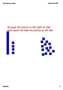 Introduction to Base Ten blocks