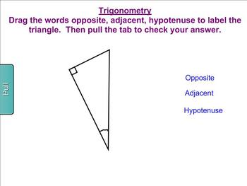 Introduction to Basic Trigonometry Activities for the Smart Board