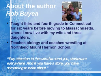 Introduction to Because of Mr. Terupt by Rob Buyea
