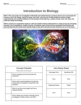 Introduction to Biology 2 Week Unit (NGSS, 3 Course, CER)
