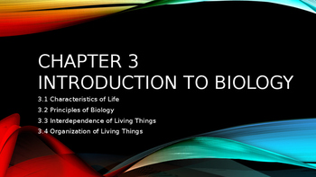 Introduction to Biology PowerPoint