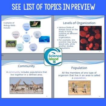Introduction to Biology PowerPoint, Notes & Video