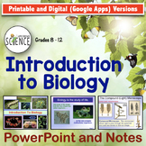 Introduction to Biology Powerpoint | Printable and Digital Distance Learning