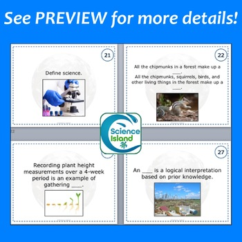 Introduction to Biology Task Cards with PowerPoint Review