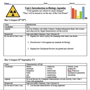 Introduction to Biology Unit Bundle