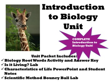 Introduction to Biology Unit Packet