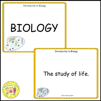 Introduction to Biology Vocabulary Cards