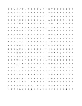 Introduction to Biology Word Search