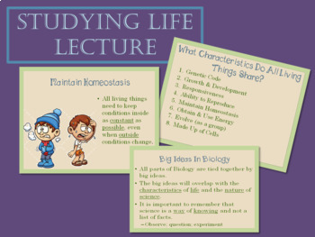 Introduction to Biology and Studying Life Lecture