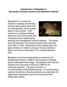 Introduction to Biosphere 2: University of Arizona Research Institute