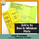 Introduction to Box-and-Whisker Plots Foldable