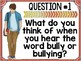 Introduction to Bullying Gallery Walk H.O.T. Questions