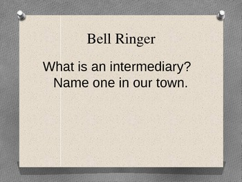 Introduction to Business Bell Ringers