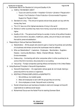 Introduction to Business Module for teachers and Students