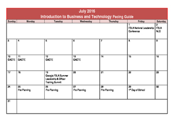 Introduction to Business & Technology Course Pacing Guide