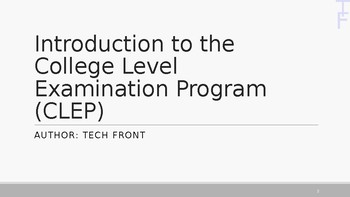 Introduction to CLEP Exams - Informational PowerPoint