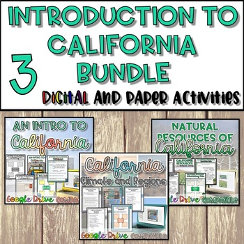 Introduction to California Unit Bundle {Digital AND Paper}