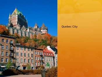 Introduction to Canada Slideshow.  Editable!