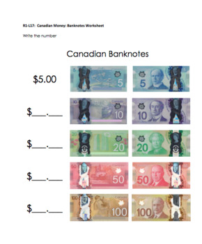 Introduction to Canadian Money