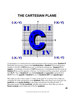 Introduction to Cartesian Coordinate Graphing - all 4 quadrants