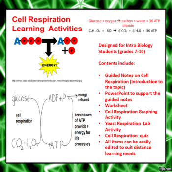 Introduction to Cell Respiration Learning Activities