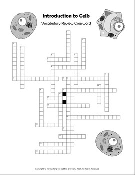 Introduction to Cells Crossword