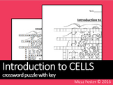 Introduction to Cells Crossword Puzzle with Key