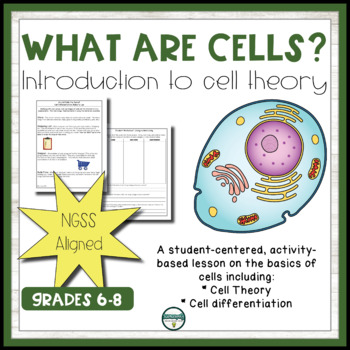 """Introduction to Cells - Middle School - """"What are Cells?"""" Cell Activity"""